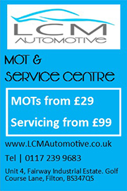 MOT and servicing at LCM Automotive, Filton, Bristol.