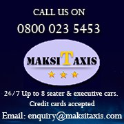 MaksiTaxis: 24/7 taxi service in Bristol and South Gloucestershire.