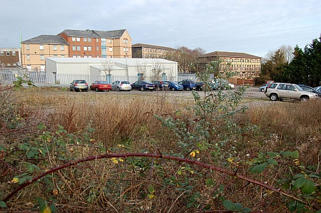 Undeveloped area alongside the Shield Retail Centre, Filton