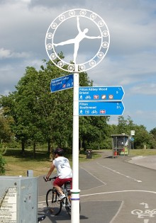 Cycle paths near the Abbey Wood Roundabout