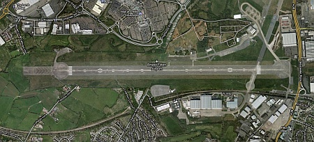 Satellite view of Filton Airfield, Bristol.