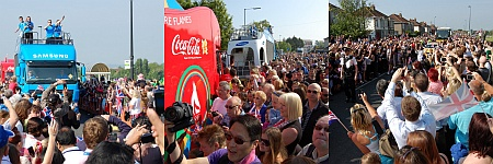 More photos of the London 2012 Olympic Torch Relay in Filton.