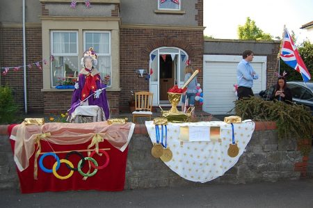 "House decorated on the theme ""the royal balcony""."