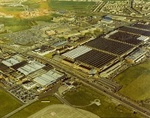 The Rolls-Royce factory in Filton, Bristol, pictured in November 1975.