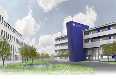 Artist's impression of the new main office building at the Airbus site in Filton.