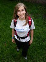 Naomi Pullin of Filton, Bristol, who is raising money for the Alzheimer's Society.