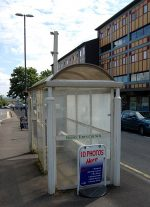 Unused bus shelter in Church Road, Filton, Bristol.