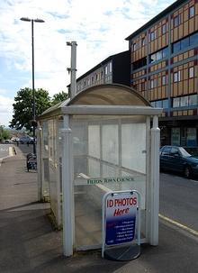 Unused bus shelter in Church Road, Filton, Bristol.