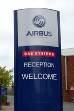 Reception for Airbus and BAE Systems sites at Filton, Bristol.