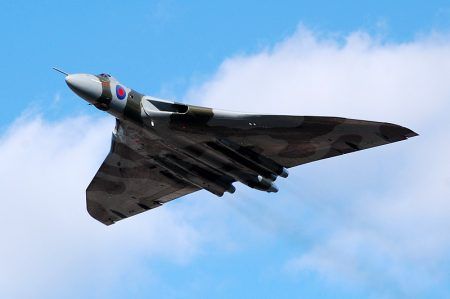 Avro Vulcan 60th Anniversary fly-past at Filton Airfield, Bristol.