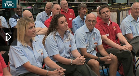 "Workers from the Royal Mail's Bristol Mail Centre star in the BBC's ""The Choir""."