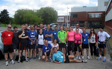 Team Deskool Run - Paul Kealy positioned second from the left.