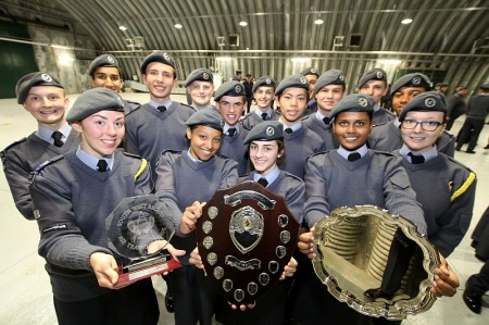 The victorious 2152 (North Bristol) Squadron Drill Team.