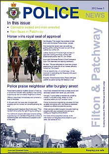 Police newsletter for Filton and Patchway (2012 Issue 3).