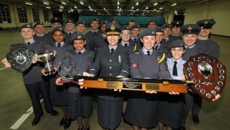 The 2152 (North Bristol) Squadron - national Drill competition champions.