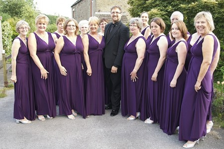 Avon Harmony Ladies Acappella Chorus with their Musical Director Alex de Bruin.