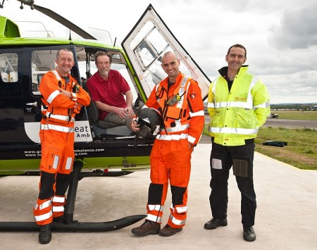 Ian Taylor visits the Great Western Air Ambulance base at Filton.