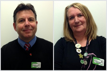 David Rolph and Anne Maddox from the Asda store in Filton, Bristol.