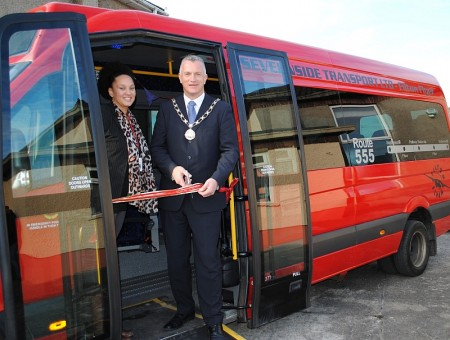 Launch of the Filton Flyer 555 bus service.