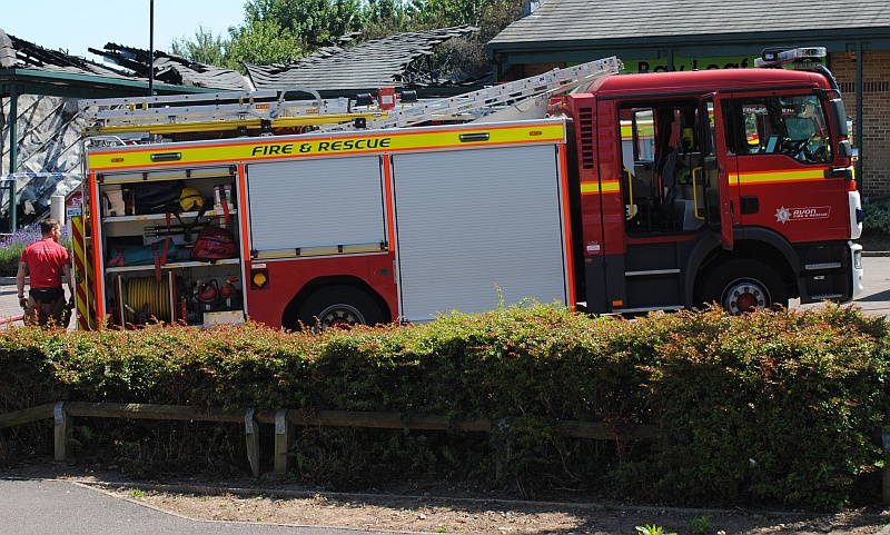 Fire engine of the Avon Fire & Rescue Service.