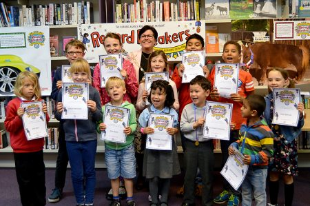 Summer Reading Challenge awards presentation at Filton Library.