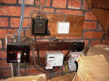 Hazardous electrics at a rented property in Charles Road, Filton.