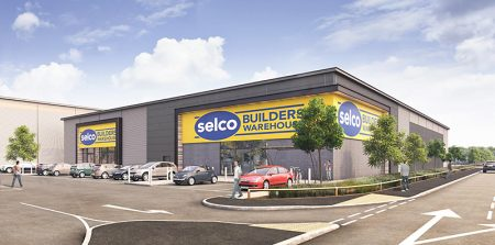 Artist's impression of the proposed Selco trade centre on the Horizon 38 development in Filton, Bristol.