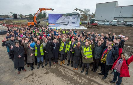 Ground-breaking ceremony for the new Airbus Wing Integration Centre in Filton.