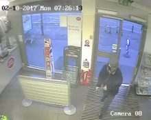 CCTV image of an armed robbery on Monday 2nd October 2017 at the Spar store on Filton Avenue.