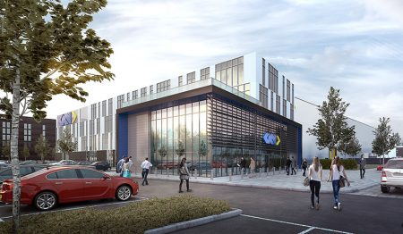 Visualisation of the proposed Global Technology Centre.