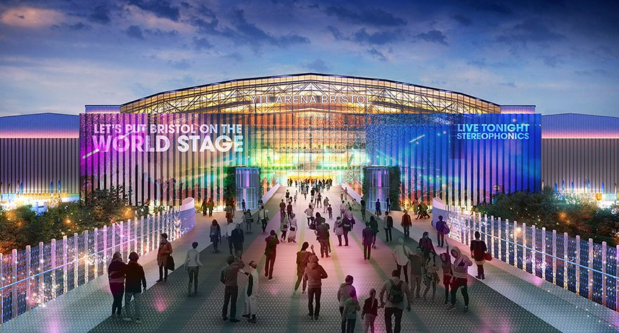 Visualisation of the main entrance to the proposed YTL Arena.