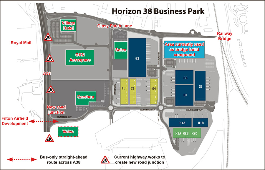 Plan of the Horizon 38 business park.